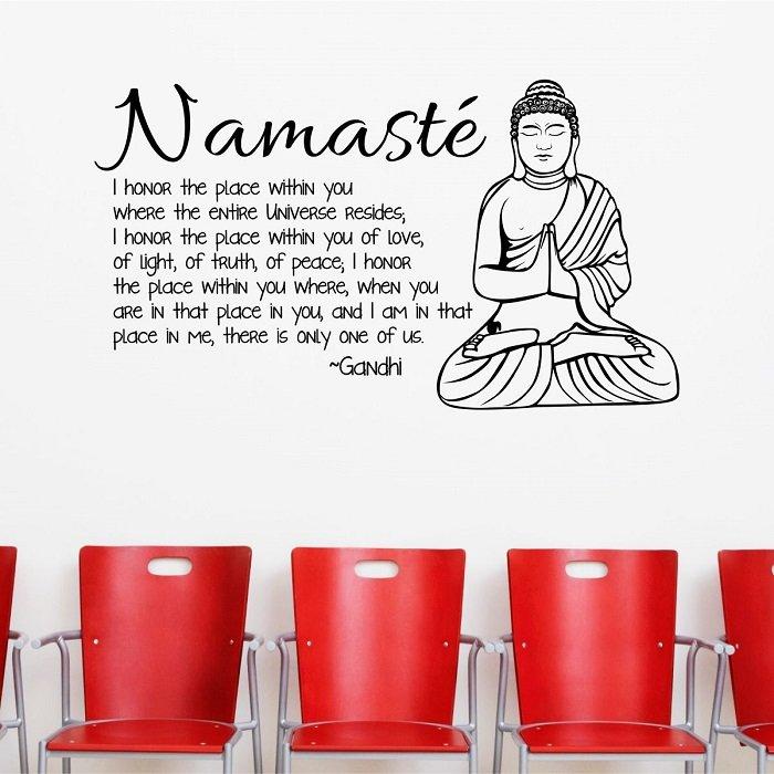Namaste - Buddhist Wall Decor Quote