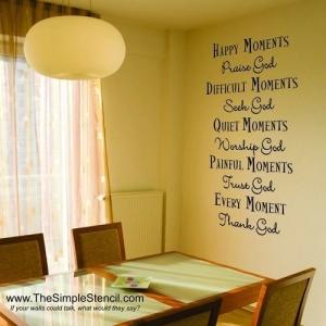 """""""Thank, Praise & Seek God"""" - Christian Scripture Bible Verse Vinyl Wall Decals"""