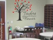Teachers Plant Seeds That Grow Forever - Custom Vinyl Wall Art for the Classroom