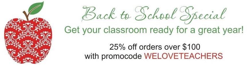 Teacher Discount Custom Vinyl Wall Window Decals