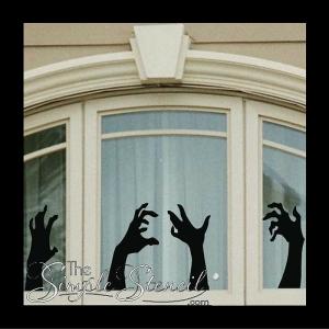 Zombie Witch Hands Halloween Vinyl Wall Window Decals 700x700