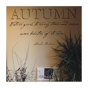 Autumn Dickens Nature Quote Custom Vinyl Decal 700x700