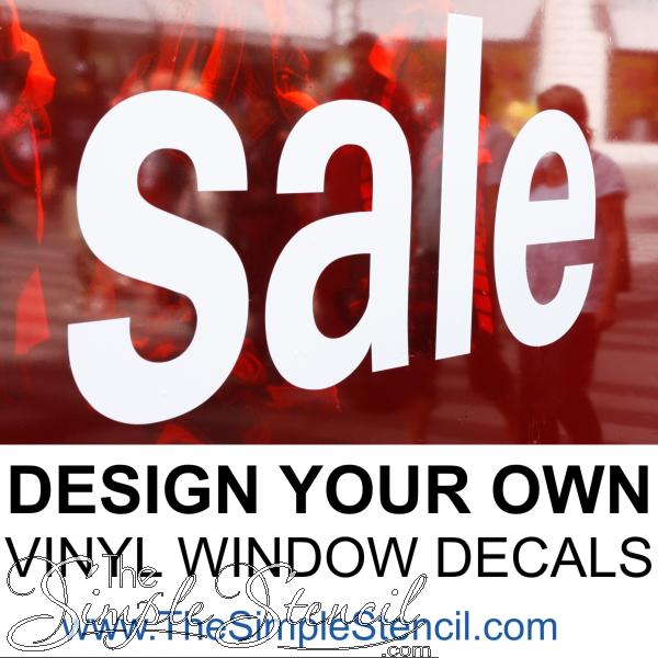 sale window lettering custom vinyl decals diy design online the